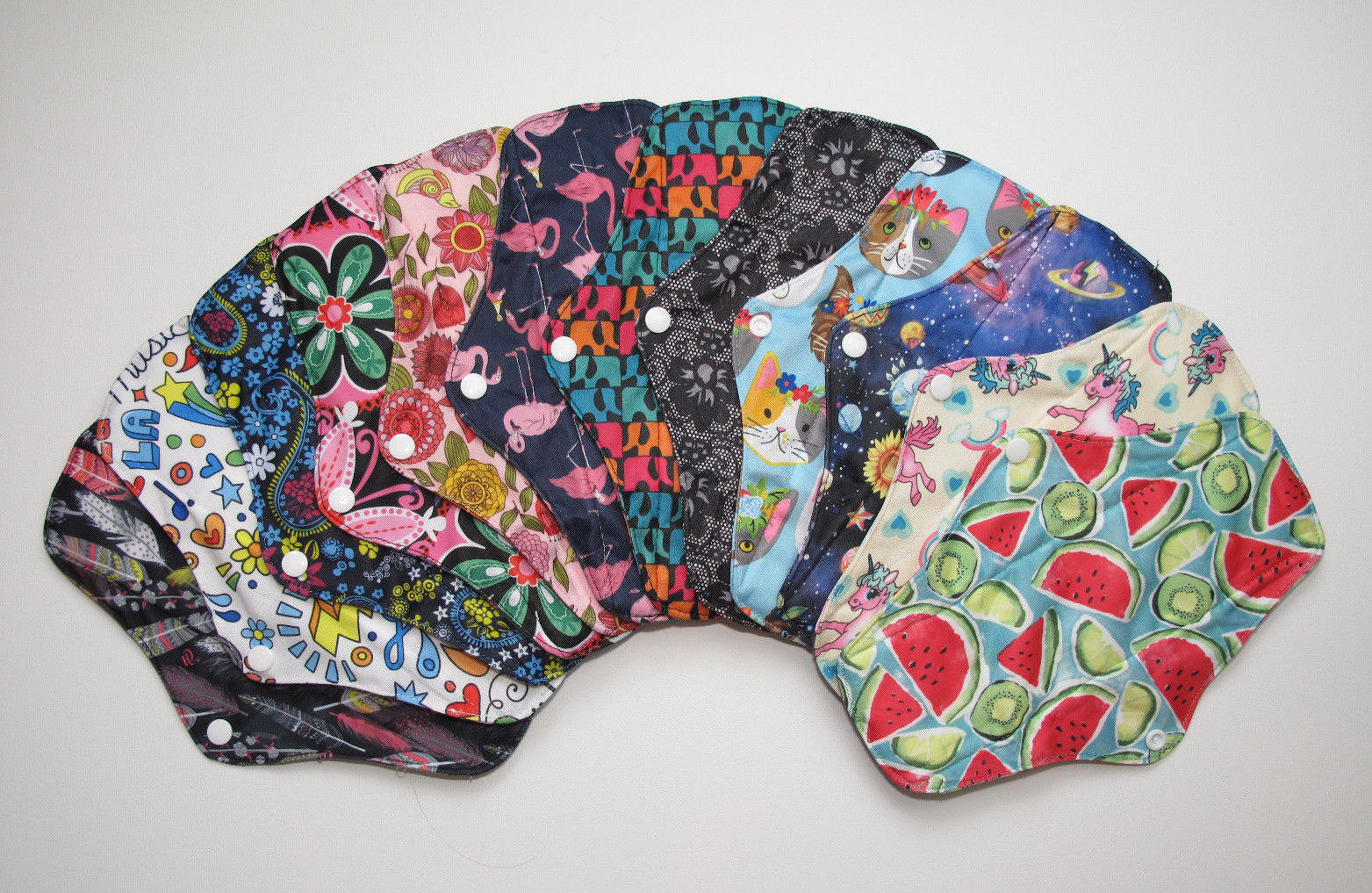 Charcoal Regular Flow Menstrual Pads