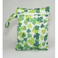 Medium Wet Bag - Green Leaves