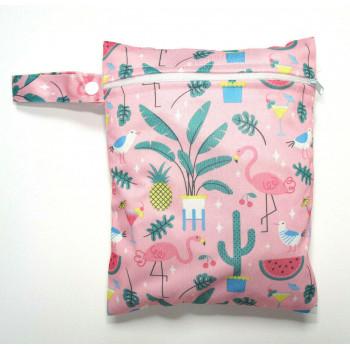 Medium Wet Bag - Pink Flamingos
