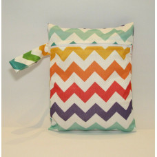 Medium Wet Bag - Rainbow Zig Zags