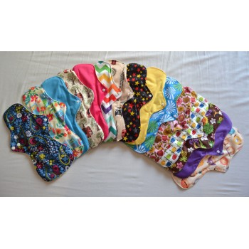 Set of 3 Bamboo Heavy Flow Menstrual Pads Heavy Flow Cloth Pad Sets - Cloth Mama