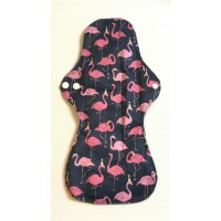 Charcoal Heavy Flow Sanitary Pad - Flamingos