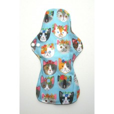 Charcoal Heavy Flow Sanitary Pad - Kawaii Cats