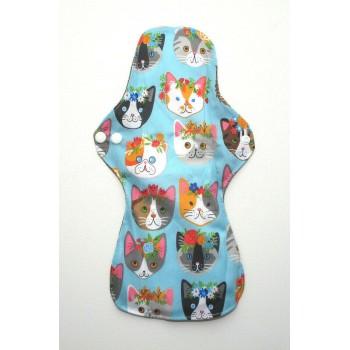 Charcoal Heavy Flow Sanitary Pad - Kawaii Cats