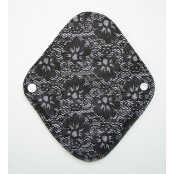 Charcoal Panty Liner / Light Flow Pad - Black Lace