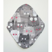Charcoal Panty Liner / Light Flow Pad - Cats