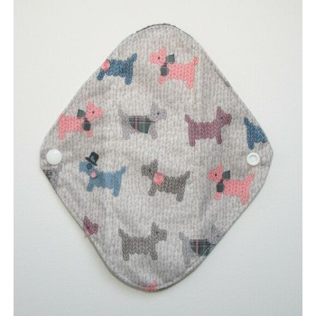 Charcoal Panty Liner / Light Flow Pad - Scotty Dogs