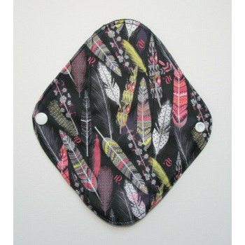Charcoal Panty Liner / Light Flow Pad - Pretty Feathers