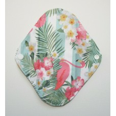 Charcoal Panty Liner / Light Flow Pad - Flamingo Stripes