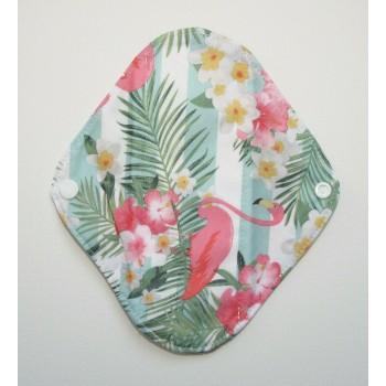 Charcoal Panty Liner / Light Flow Pad - Flamingo Stripes