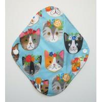 Charcoal Panty Liner / Light Flow Pad - Kawaii Cats