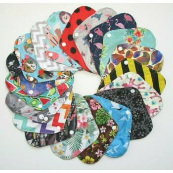Set of 5 Charcoal Light Flow Pads Light Flow Cloth Pad Sets - Cloth Mama