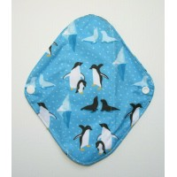 Charcoal Panty Liner / Light Flow Pad - Penguins