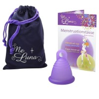 Me Luna Shorty Menstrual Cup - Ring Stem - Large