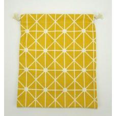 Linen Drawstring Bag - Mustard