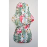 Bamboo Cloth Heavy Flow Sanitary Pad - Flamingo Stripes