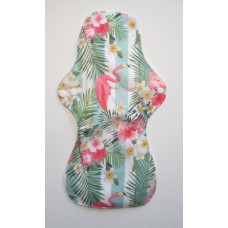 Bamboo Cloth Heavy Flow Sanitary Pad - Flamingo Stripes
