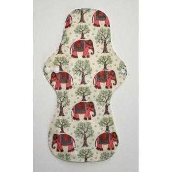Bamboo Cloth Heavy Flow Sanitary Pad - Pink Elephants Heavy Flow Sanitary Pads - Cloth Mama