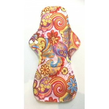 Bamboo Cloth Heavy Flow Sanitary Pad - Vintage Flowers Bamboo Heavy Flow Sanitary Pads - Cloth Mama