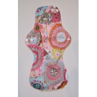 Bamboo Cloth Heavy Flow Sanitary Pad - Vintage Print