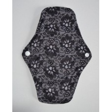 Bamboo Cloth Regular Flow Sanitary Pad - Black Lace