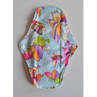 Bamboo Cloth Regular Flow Menstrual Pad - Blue Butterflies