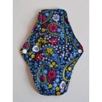 Bamboo Cloth Regular Flow Menstrual Pad - Blue Paisley