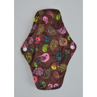 Bamboo Cloth Regular Flow Menstrual Pad - Cute Birdies Brown