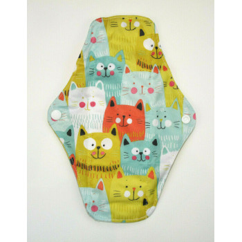 Bamboo Cloth Regular Flow Menstrual Pad - Happy Cats