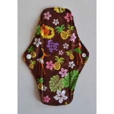 Bamboo Cloth Regular Flow Menstrual Pad - Hula Girl