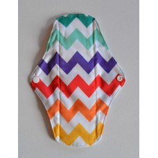 Bamboo Cloth Regular Flow Menstrual Pad - Rainbows
