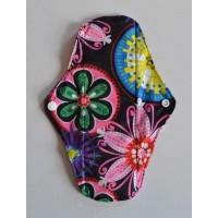 Bamboo Cloth Regular Flow Menstrual Pad - Neon Flowers