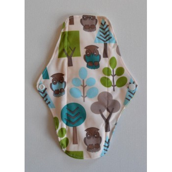 Bamboo Cloth Regular Flow Menstrual Pad - Owls And Trees
