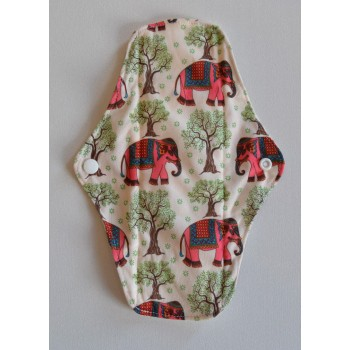 Bamboo Cloth Regular Flow Menstrual Pad - Pink Elephants Bamboo Regular Flow Sanitary Pads - Cloth Mama