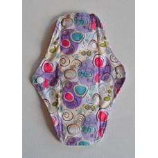 Bamboo Cloth Regular Flow Menstrual Pad - Purple Swirls