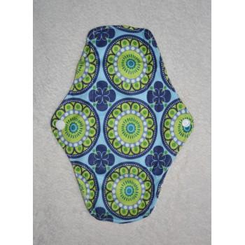 Bamboo Cloth Regular Flow Menstrual Pad - Retro Print Bamboo Regular Flow Sanitary Pads - Cloth Mama