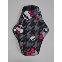 Bamboo Cloth Regular Flow Menstrual Pad - Skulls