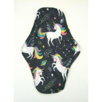 Charcoal Regular Flow Menstrual Pad - Space Unicorns