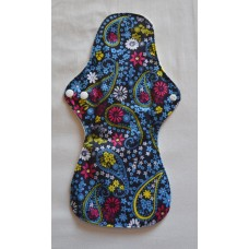 Bamboo Cloth Heavy Flow Sanitary Pad - Blue Paisley