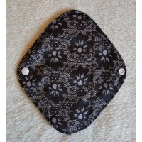 Charcoal Panty Liner / Light Flow Pad - Black Lace