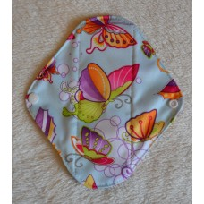 Charcoal Panty Liner / Light Flow Pad - Blue Butterflies
