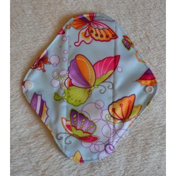 Charcoal Panty Liner / Light Flow Pad - Blue Butterflies