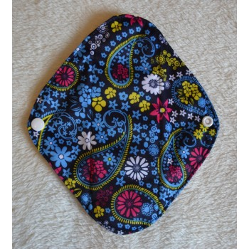 Charcoal Panty Liner / Light Flow Pad - Blue Paisley