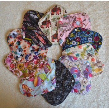Set of 3 Bamboo Charcoal Light Flow Pads Light Flow Cloth Pad Sets - Cloth Mama