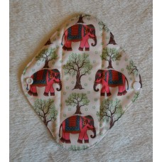 Charcoal Panty Liner / Light Flow Pad - Pink Elephants