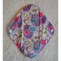 Charcoal Panty Liner / Light Flow Pad - Purple Swirls