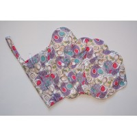Bamboo 5 Piece Menstrual Pad Set - Purple Swirls