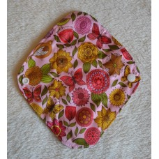 Charcoal Panty Liner / Light Flow Pad - Vintage Flowers
