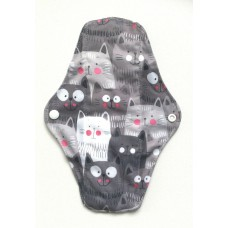 Charcoal Regular Flow Menstrual Pad - Cats