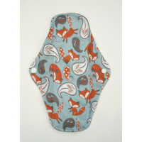 Charcoal Regular Flow Menstrual Pad - Foxes